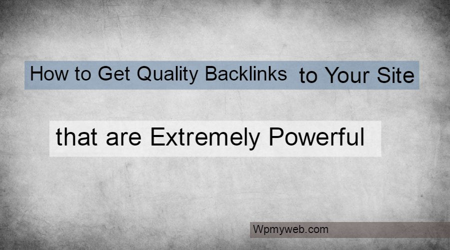 get quality backlinks free