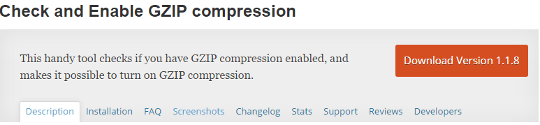 Gzip Compression Plugin