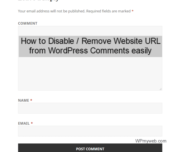 remove website url