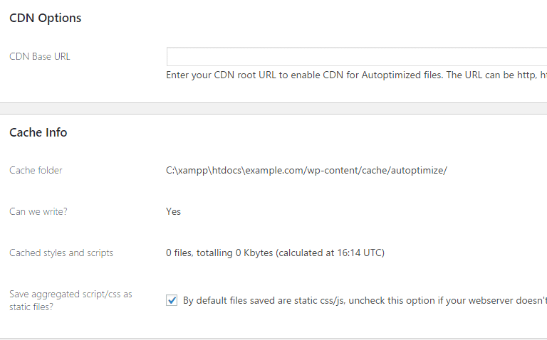 Autoptimize CDN options