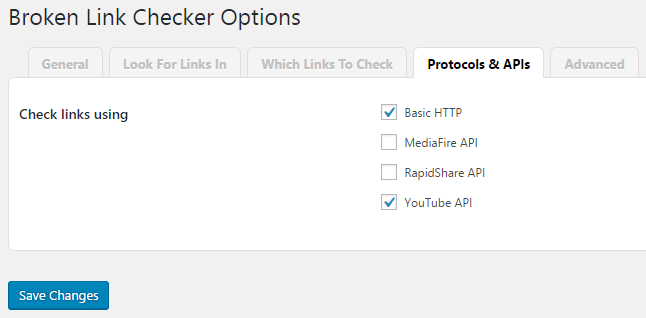 Broken Link Checker Protocols & APIs
