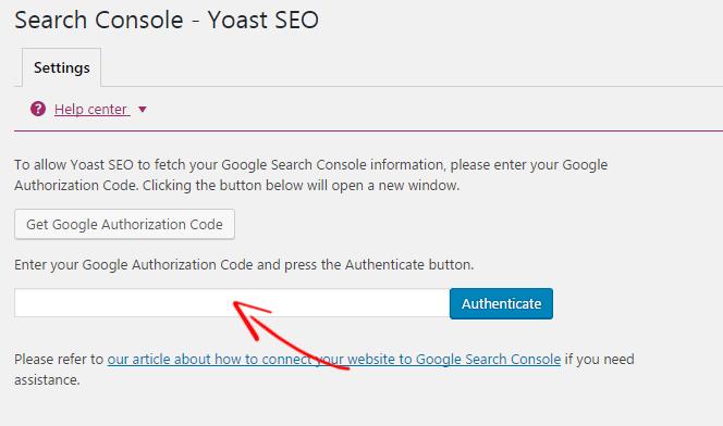 Yoast Search Console