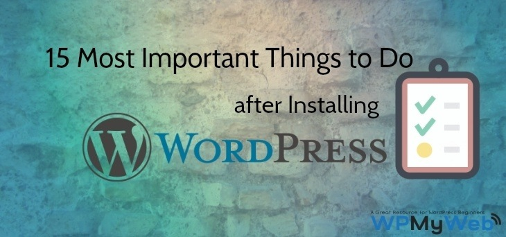 After Installing WordPress