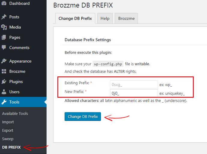Brozzme DB Prefix
