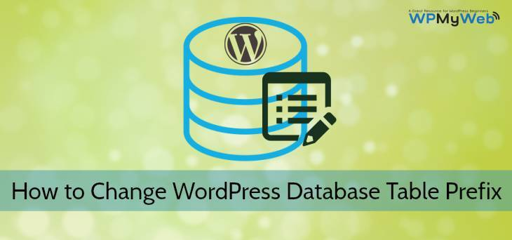 Change WordPress Database Table Prefix