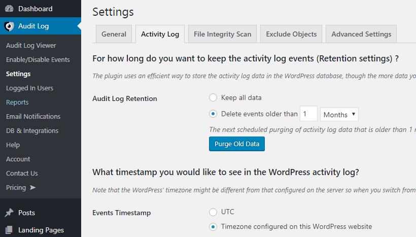 Audit Activity Log