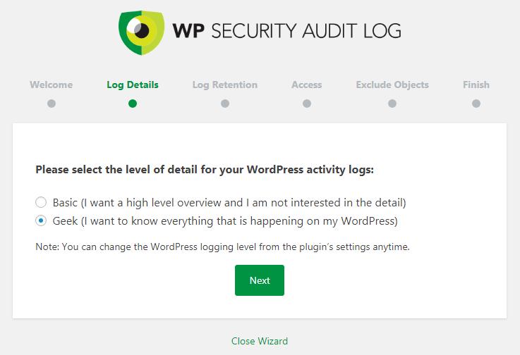 WP Security Audit Log Details