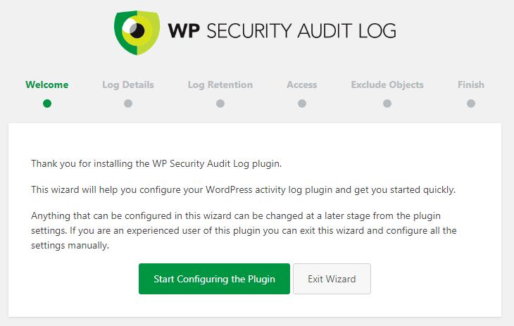 WP Security Audit Log Setup Wizard