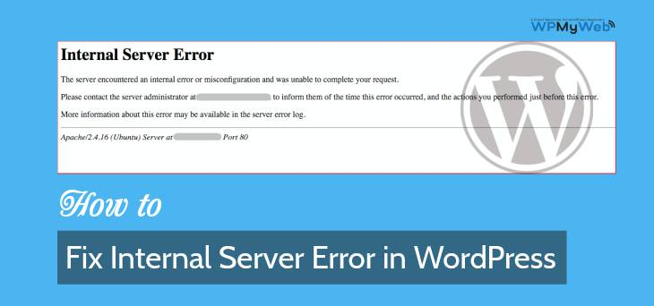 Fix 500 Internal Server Error in WordPress