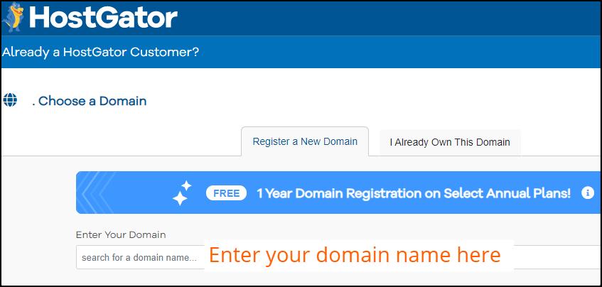 HostGator domain registration