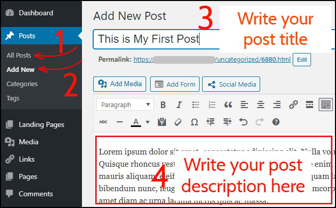 Publish Post on WordPress