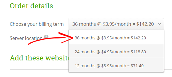 HostPapa Billing Term