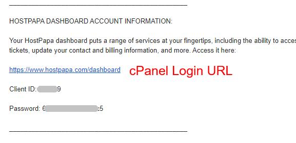 HostPapa Login Details