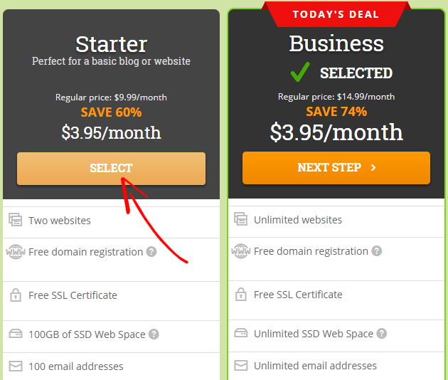 HostPapa Starter Plan