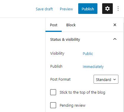 WordPress Post Publish