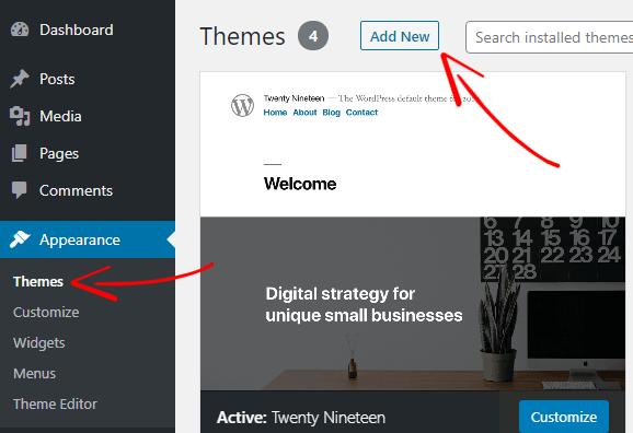 WordPress Theme Add