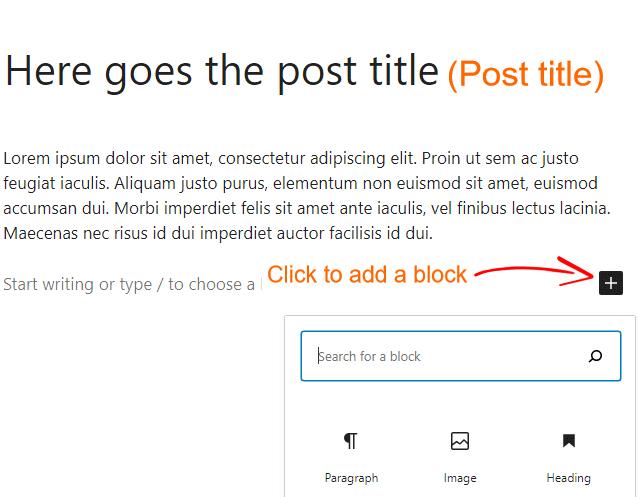 WordPress writing a Post