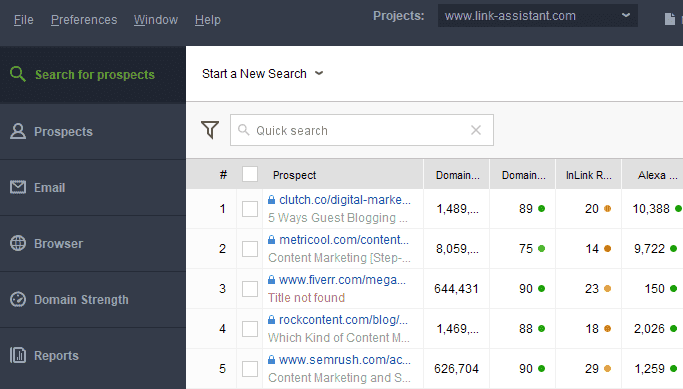 Link Assistant tool